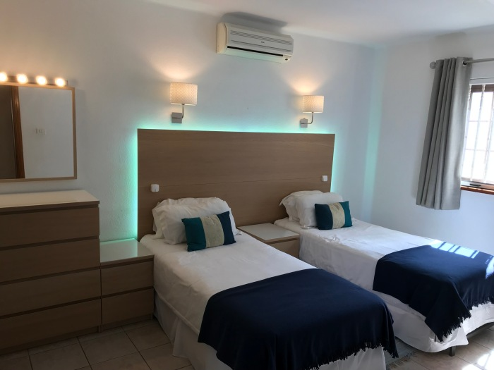 8) Twin bedded 2nd bedroom with LED lighting and Air-Con Option